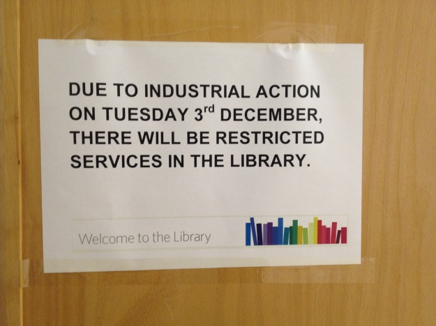 The library, along with other departments and classes were affected
