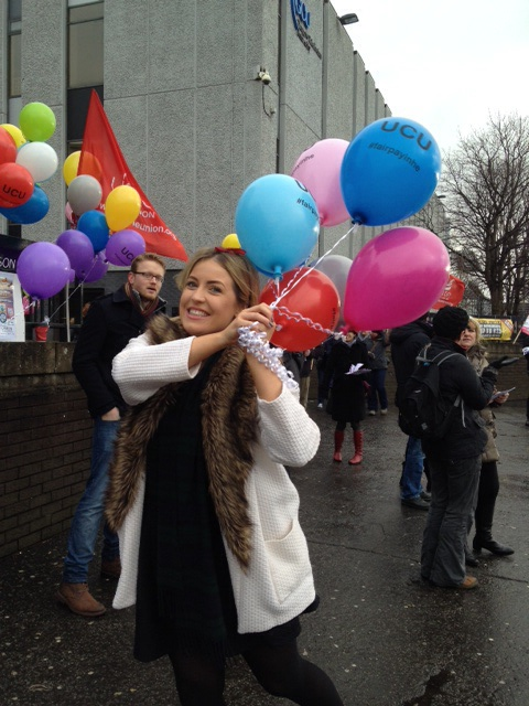 Sinead from the students association nearly carried away