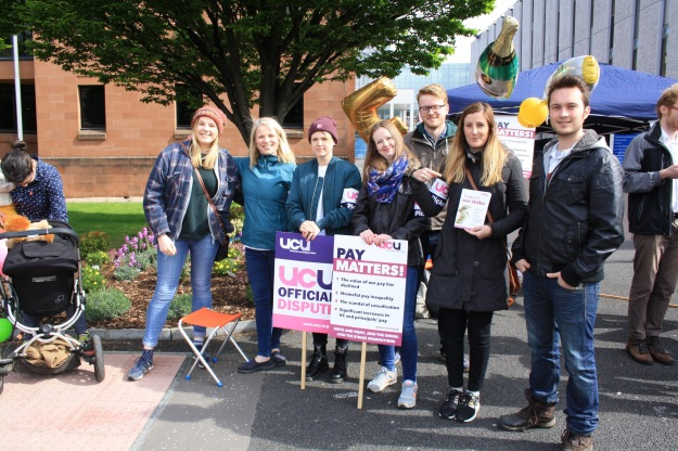 Reps of the GCU Students Association joined our picket line and spoke at our gate-side rally